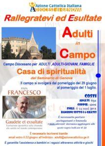 ANNULLATO - Adulti in Campo 2018 @ Seminario Maggiore di Genova | Genova | Liguria | Italia