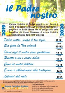 Cammino di preghiera per giovani e adulti @ Azione Cattolica Diocesi di Genova