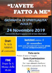 Giornata di spiritualità @ Convento di San Barnaba