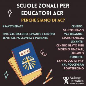 Scuole zonali per educatori ACR (Val Bisagno, Levante e Centro)